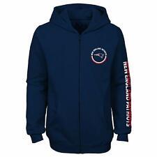Outerstuff NFL Youth Girls New England Patriots Brilliant Full Zip Fleece Hoodie