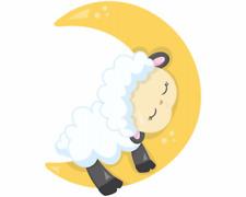 Schlafendes Schaf Aufkleber Sticker Autoaufkleber Scheibenaufkleber