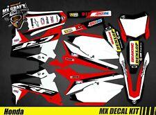 Kit Déco Moto pour / Mx Decal Kit for Honda CRF - Black