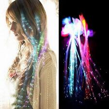 Halloween LED Light Emitting Fiber Optic Wire Hairpin Luminous Braids Filmy