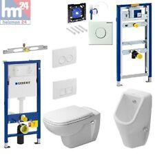 Komplettset Geberit Duofix Basic Vorwandelement m. D-Code WC u. Urinal