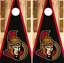 Ottawa Senators Cornhole Wrap Nhl Game Board Skin Set Vinyl Decal Decor Co311