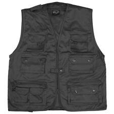 Multi Pocket Fishing Vest Hunting Multipurpose Waistcoat 14 Pockets Black S-4Xl