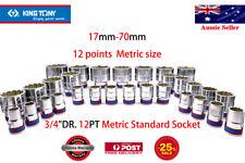 "KING TONY17mm-70mm 3/4""DR 12PT Chrome vanadium alloy steelMetric Standard Socket"