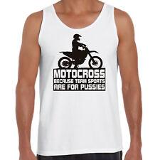 Men's tank Singlet Motocross Team sport Funny Moto FMX Motorcycle mx ride