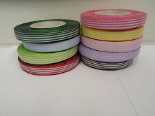 2 metres or full roll (25 metres) 5mm 10mm Pencil Stripe Ribbon UK VAT Reg