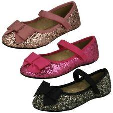 Niñas Baja con Purpurina Zapatos Fiesta Cutie