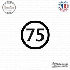 Sticker Département 75 Paris Ile de France Paris Decal Aufkleber Pegatinas V-094