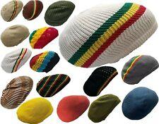 Crochet Beret Tam Hat Rasta Hippie Dreads Beanie Reggae Cap Dreadlocks Slouchy