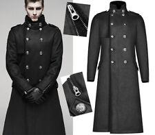 Manteau long molletonné militaire gothique dandy punk zip hiver PunkRave Homme