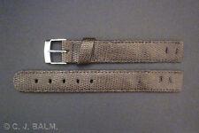 Cuir marron qualité lézard style vintage bracelet montre ouvertes 16mm 18mm 20mm