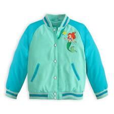 Disney Store Princess The Little Mermaid Ariel Varsity Jacket Girl Size 7/8