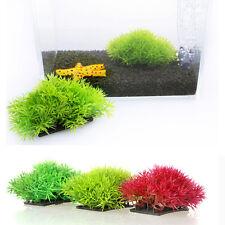 Artificial Fake Water Aquatic Green Grass Plant Lawn Decor Aquarium Fish Tank hc