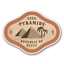 2 X 10 Cm Egipto Pirámides De Giza pegatina de vinilo calcomanía viaje Equipaje Etiqueta Label # 6383