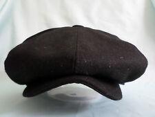 BLACK 8 PIECE 8-PANEL BAKER BOY NEWSBOY GATSBY CAP AKA PAPER BOY HAT