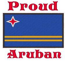 Proud Aruban Aruba Flag Embroidered Baby Bodysuit