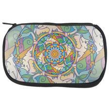 Mandala Trippy Stained Glass Hedgehog Makeup Bag