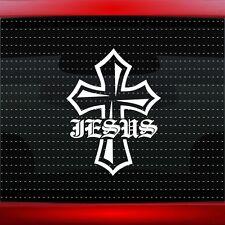 Jesus Cross #1 Christian Car Decal Truck Window Vinyl Sticker (20 COLORS!)