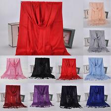 Women Long Large Scarves Pashmina Tassel Shawl Wool Blend Scarf Winter Warm Wrap