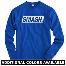 Smash Boxed Logo Long Sleeve T-shirt LS - Street Art Graffiti Type - Men S-4X