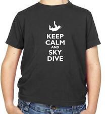 Keep Calm and Sky Dive Kids T-Shirt - Sky Diving - Parachuting - Skydive