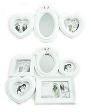 3 ou 5 Blanc Shabby Chic Support mural Cœur Miroir ovale cadre photo