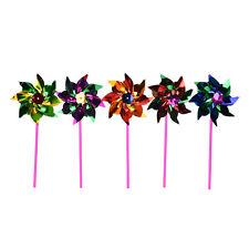 5/10/15 holographique jardin moulin à vent unique fleur décor enfants jouet IJHW