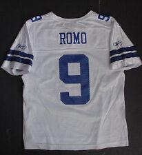 NWT REEBOK Tony Romo 9 Mesh Jersey Dallas Cowboys White Blue WOMENS Sz S L 2XL