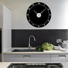 Sticker mural Horloge géante RONDE CLASSIQUE avec mécanisme aiguilles