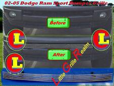02-05 2004 2005 Dodge Ram Sport Bumper Billet Grille