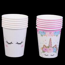 6pcs tazze di carta unicorno monouso festa di compleanno baby shower bicchieri B