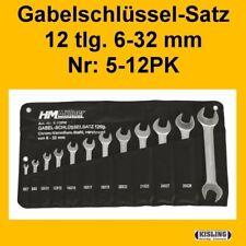 Chiave a forchetta Set 12-pz. 6-32 5-12PK con Custodia arrotolabile