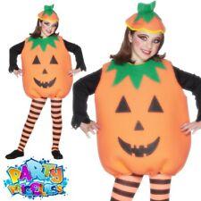 Child Pumpkin Fancy Dress Costume Boys Girls Halloween Joack O Lantern Outfit