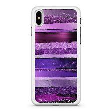Hot Purple Lush Pink Cool Blue Stripy Glitter Effect Pattern Phone Case Cover