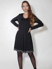-20% Kleid Damen Retro von Simclan Gr. 36 42, dunkelgrau anthrazith