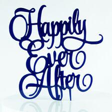 Happy Ever After propuesta Boda Compromiso para Decoración de Pasteles Topper Acrílico