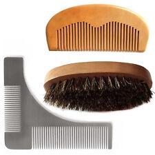 Magik Beard Mustache Hair Face&Neck Style Groom Aid Shaping Tool Comb Brush Set