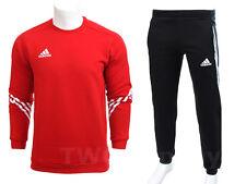 Hommes Adidas Survêtement molletonné pull jogging bottoms sweatpants Rouge S-XXL