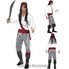 CL466 Pirate Man Swashbuckler Carribean Buccaneer Fancy Dress Costume