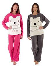 Ladies Microfleece 'Cici Bear' Pyjama Set