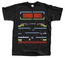 MARIO BROS Nes T shirt Black Arcade Famicom ALL SIZES S-5XL