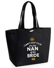 Nan della Sposa Idea Regalo MATRIMONIO nubilato sposa Bag Borsa regalo ricordo