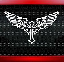 Cross Wings #3 Christian Car Decal Truck Window Vinyl Sticker Faith (20 COLORS!)