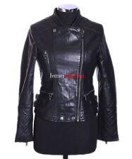 Roxy Black Ladies Biker Style Fashion Real Lamsbkin Leather Jacket