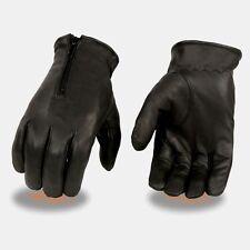 Milwaukee Leather - Men's *Unlined Driving Gloves W/ *Zipper Closure  **SH226D