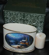 Thomas Kinkade Sunday Evening Sleigh Ride Porcelain Votive Holder & Candle Avon