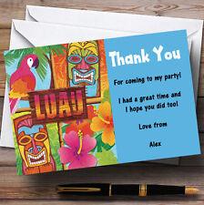 Aqua Hawaiian Tropical Luau Personalised Party Thank You Cards