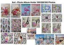 6x4 Photo Album Large Slip In Picture Album 100, 200, 300 Photos Memo area
