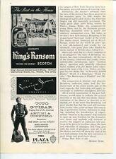 King's Ransom Scotch Tito Guizar Bob Grant Persian Room Origina 1950s Vintage Ad
