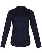 Damen Bluse Hemd slim fit Hemdbluse langarm tailliert Damenbluse Stretch neu